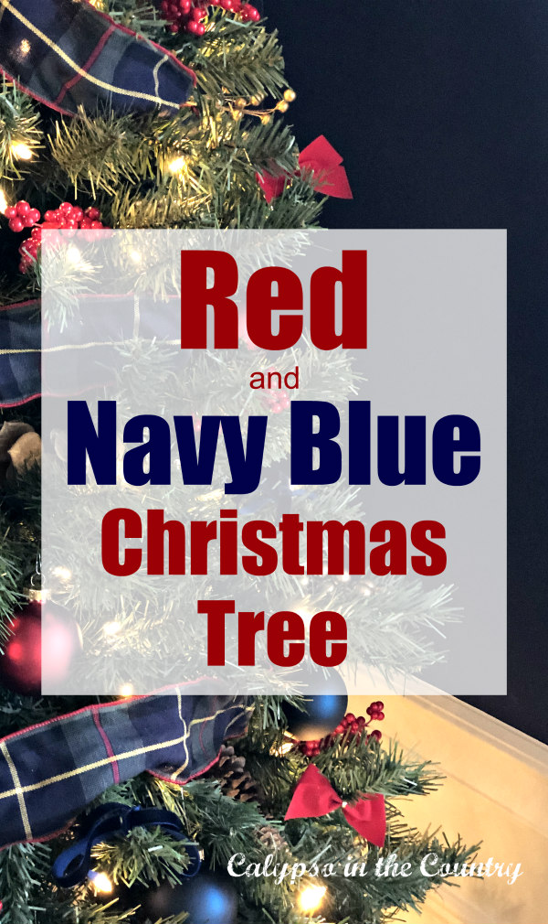Red and blue Christmas Tree
