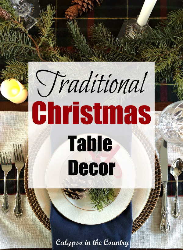 Traditional Christmas Table Decor