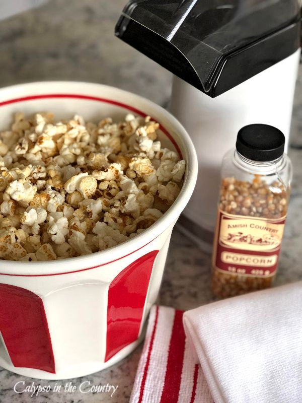 Popcorn Bucket and Air Popper
