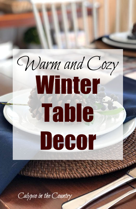 Warm and Cozy Winter Table Decor