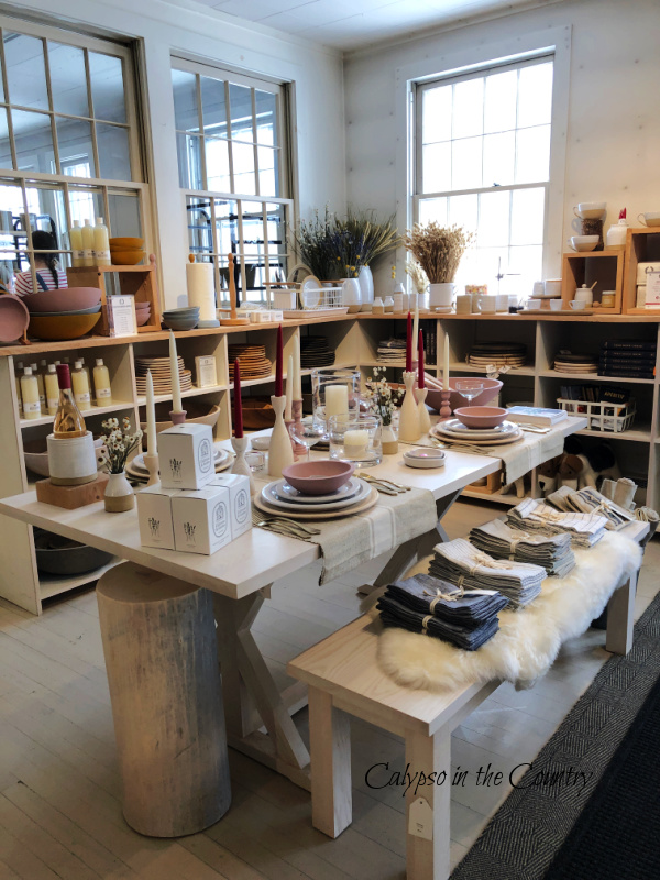 Farmhouse Pottery merchandise on table