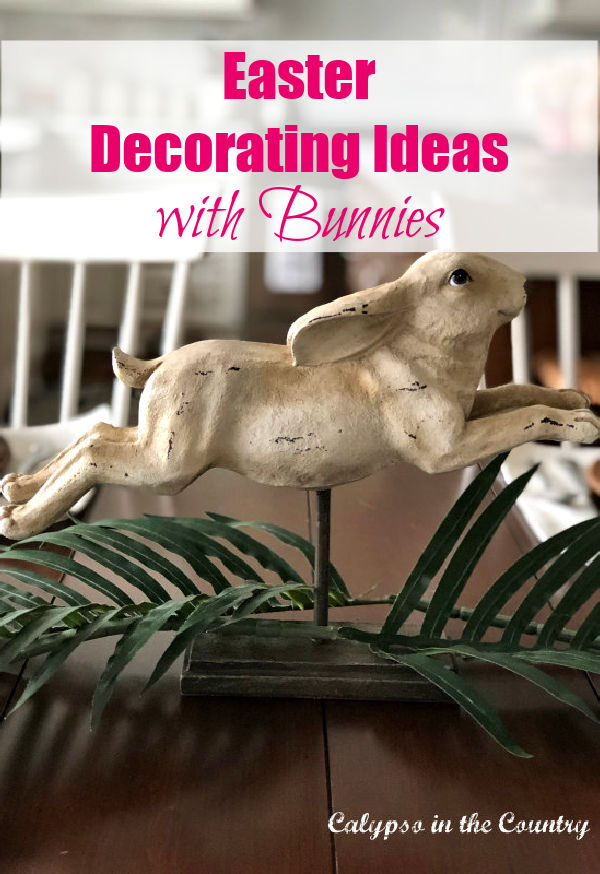 Bunny on stand - Easter decorating ideas