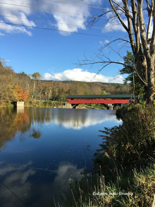 Red covered bridge - classic New England