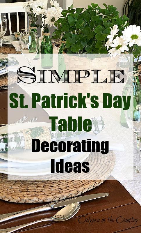 Simple St. Patrick's Day Table Decor Ideas