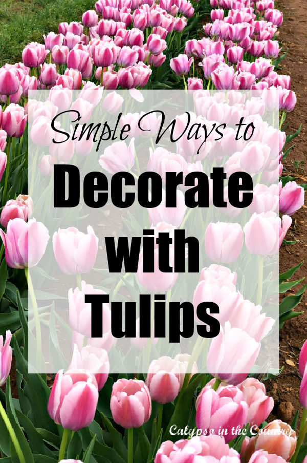 Simple ways to decorate with tulips