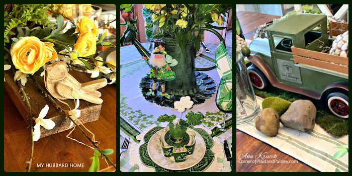 St. Patrick's Day Table decor settings 4-6