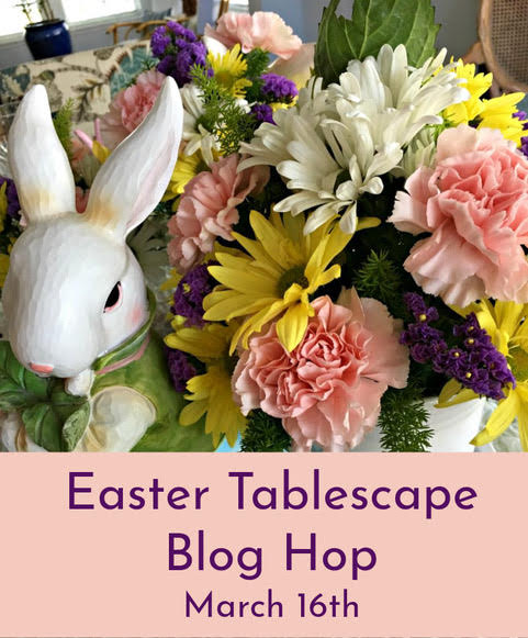 Easter Tablescape blog hop with flowers