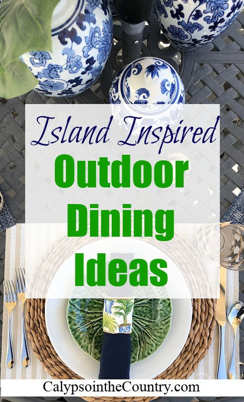 Island Inspired Outdoor Dining Ideas - Mother's Day Table Setting Decor
