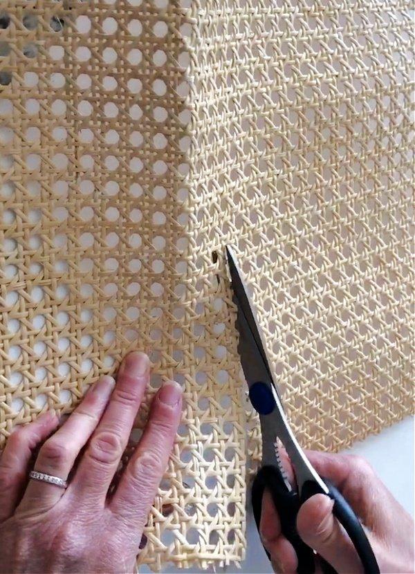 Cutting cane webbing - Easy DIY