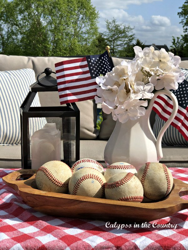 Flags and baseballs - Memorial Day Weekend Barbecue Ideas