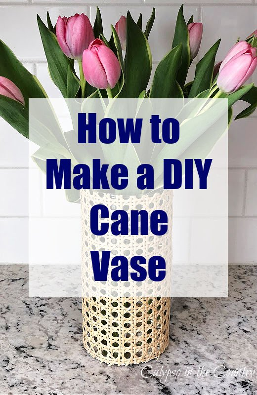 How to Make a DIY Cane Vase