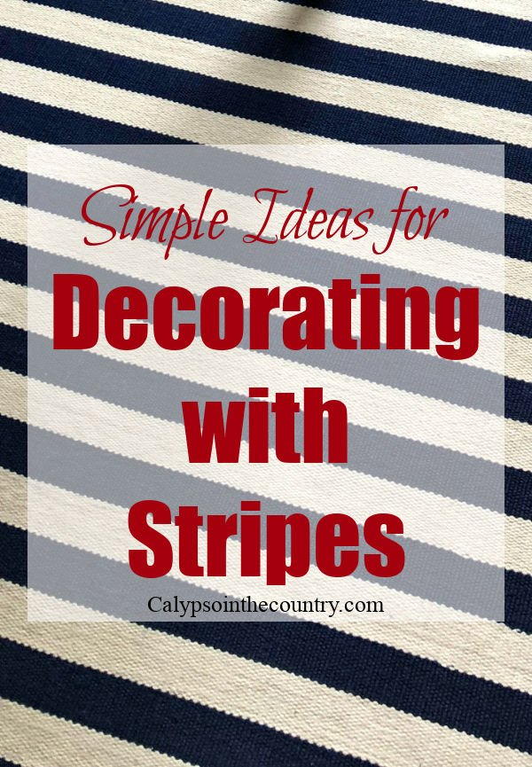 Simple ideas for decorating with stripes