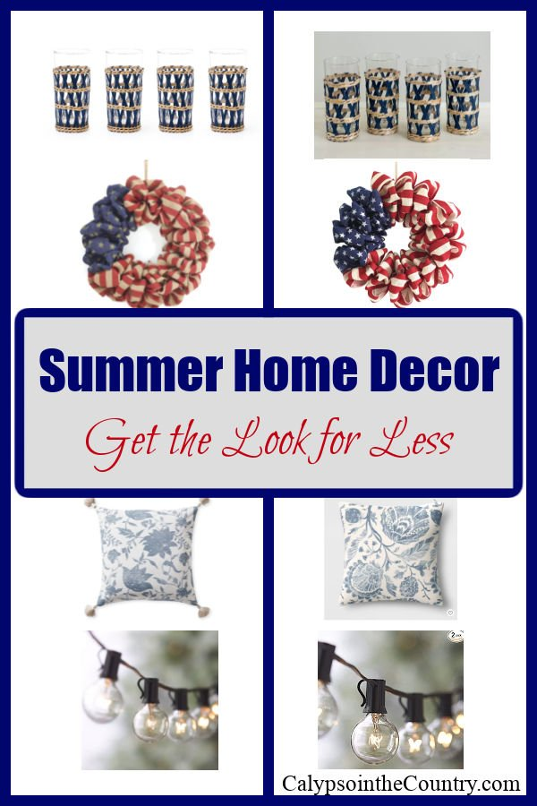 Summer Home Decor - get the look for less