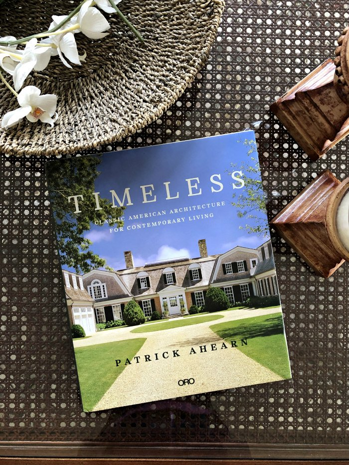 Timeless book on cane coffee table - a book full of house tours