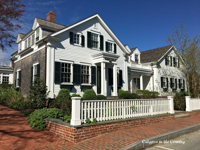 White classic home with black shutters - home tour inspiration