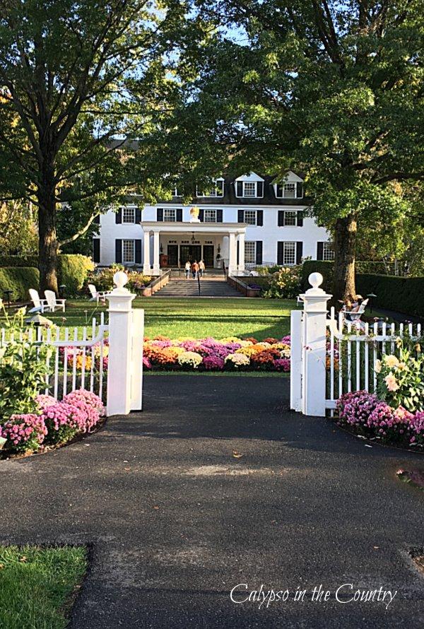 Entrance to Woodstock Inn in Vermont - best summer road trips