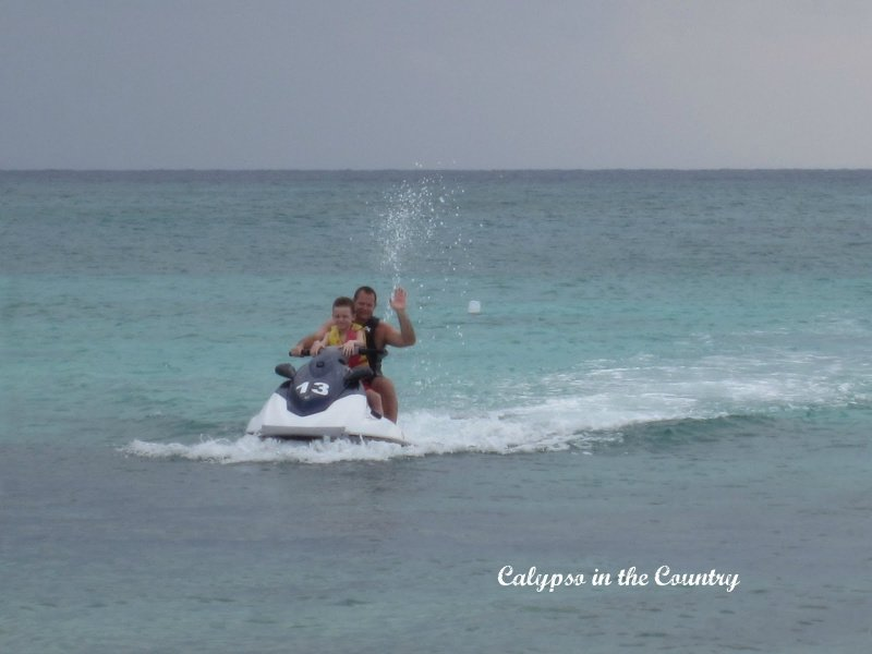 father and son on wave runner - ideas to celebrate father's day