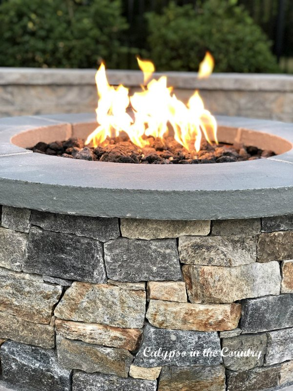 stone fire pit - ideas to celebrate Father's Day