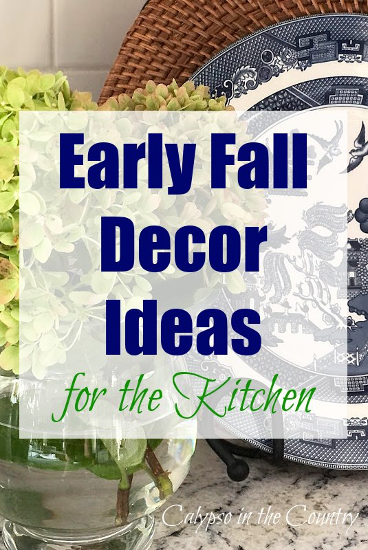 Early fall decor ideas for the kitchen