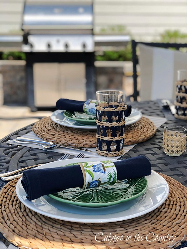 Grill and patio table setting - make the most of summer