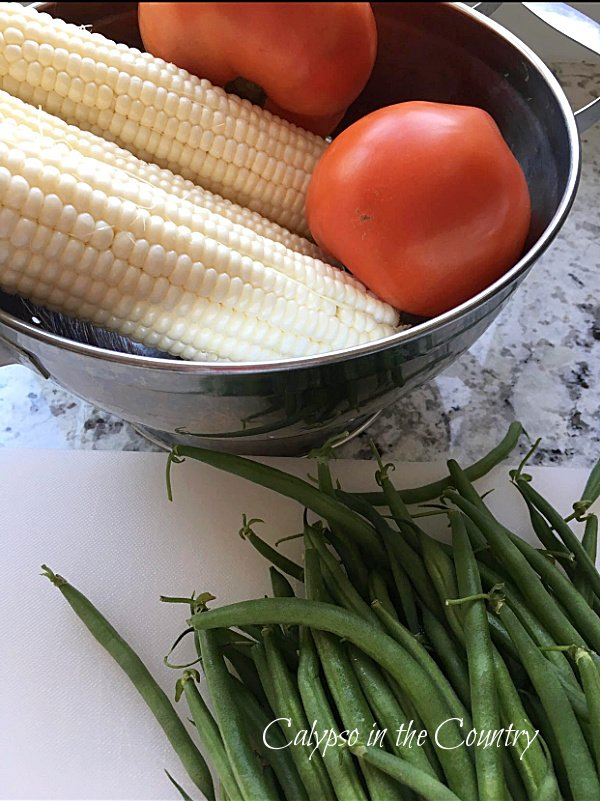 Corn, tomatoes and string beans - make the most of summer