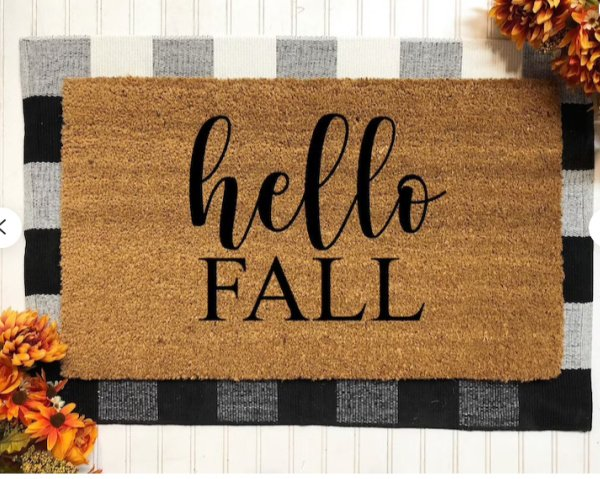 Hello Fall layered doormats - September is here