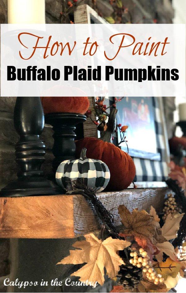 How to Paint Buffalo Plaid Pumpkin