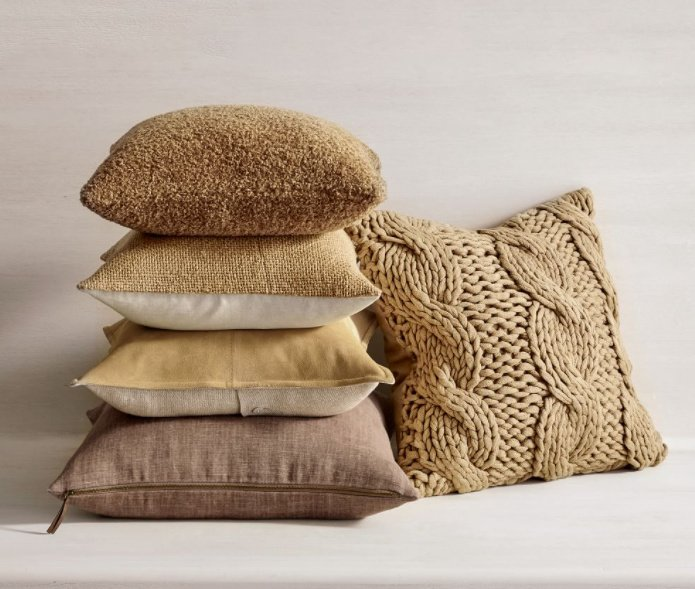 Neutral pillows for fall - September is here