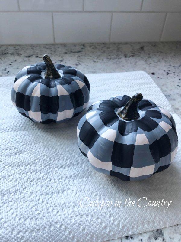 Black and White Buffalo Check Pumpkins