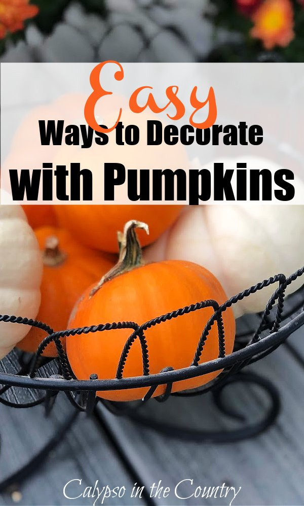 Easy ways to decorate with pumpkins